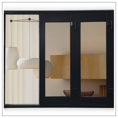 Black Aluminium 4 Panel Bi Fold Window