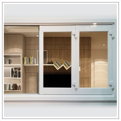 White Aluminium 4 Panel Bi Fold Window