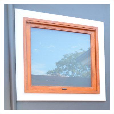Cedar awning windows