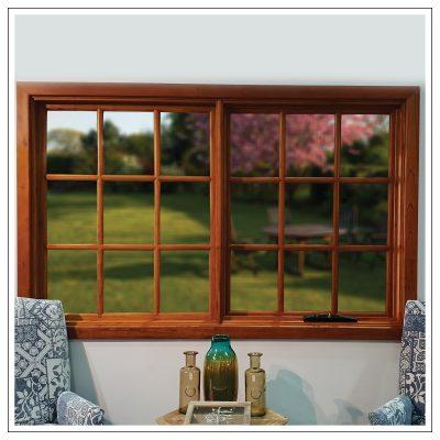 Cedar colonial awning window