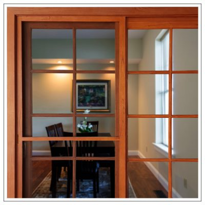 Cedar Colonial French Timber Sliding Doors