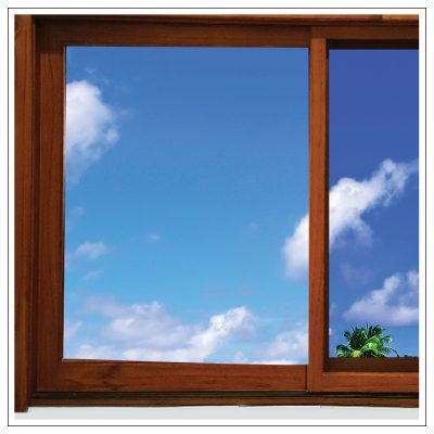 Solid Cedar Timber Sliding Window